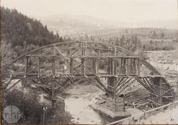 Яремче будова мосту 1894-1896
