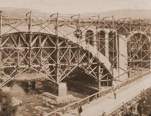 Яремче будова мосту 1890і