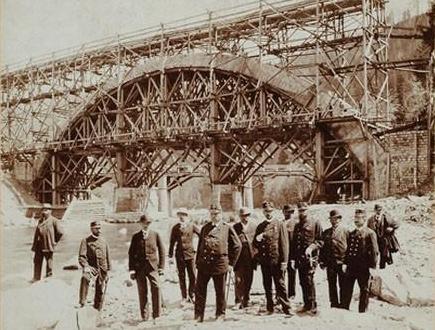 Яремче на будові мосту 1984
